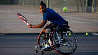 South Africa's No1 wheelchair tennis player, Kgothatso Montjane will be a flag-bearer at the paralympics. Photo: Phill Magakoe/AFP