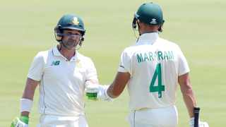 South Africa's openers Dean Elgar and Aiden Markram during Day 2 of the first Test against Sri Lanka at Supersport Park in Centurion on Sunday. Photo: Samuel Shivambu/BackpagePix