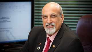 South African Professor Salim S Abdool Karim who is the recipient of the prestigious Al-Sumait Prize. Karim is a South African clinical infectious diseases epidemiologist who is widely recognised for his research contributions in HIV prevention and treatment.