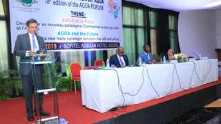 South African economic development, trade and industry minister Ebrahim Patel addresses an African trade ministers meeting in Abidjan. PHOTO: Supplied