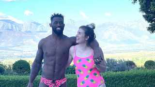 South African power couple Siya and Rachel Kolisi enjoyed a luxury weekend away at Boschendal in the Western Cape. Picture: Instagram.