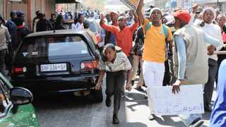 Soweto students joined the protest in support ANCYL leader Julius Malema and his executive at the start of their disciplinary hearings at Luthuli House, Johannesburg. Photo: Adrian de Kock