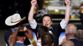 SpaceX CEO Elon Musk celebrates after the launch of a SpaceX Falcon 9 rocket and Crew Dragon spacecraft on NASA's SpaceX Demo-2 mission to the International Space Station from NASA's Kennedy Space Center in Cape Canaveral. Picture: Steve Nesius/Reuters