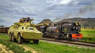 Steam and military indulgences at Sandstone. Picutre: James Lee Attwell/Supplied
