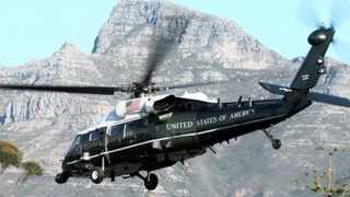 Steer clear: A US military helicopter lands in Green Point, Cape Town, last month during US President Barack Obama's visit. Picture: David Ritchie