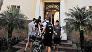 Stellenbosch University students file into the John Murray Huis residence. The university plans to introduce a fully bilingual academic offering, through parallel sessions or simultaneous interpreting, which will enable students to listen to their lectures in English or Afrikaans. Picture: David Ritchie