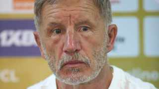 Stuart Baxter during the 2021 CAF Champions League Final Kaizer Chiefs Press Conference at the Mohamed V Stadium in Casablanca, Morocco on 16 July 2021 ©Fareed Kotb/BackpagePix