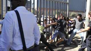 Students at Cape Peninsula University of Technology (CPUT) were embroiled in violent racial clashes on Thursday, leaving some with head wounds. Lectures were halted and the university was in lockdown while vehicles were prevented from entering or leaving. The clash erupted between two groups of students, one black the other white, after about 300 protesting students blockaded both main gates of the university and stopped vehicles from passing through. During the clash, some students were injured when bricks and stones were hurled at them. Picture Courtney Africa