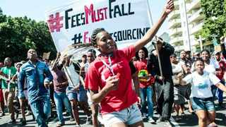 Students protesting during #FeesMustFall protests. File Picture