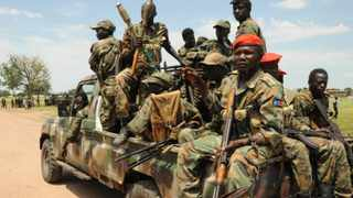 Sudan People's Liberation Army (SPLA) forces patrol the camp of Lalo, close to Malakal. File picture: Jok Solomon/Reuters