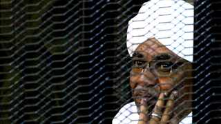 Sudan's former president Omar Hassan al-Bashir sits inside a cage at the courthouse in Khartoum, Sudan. File picture: Mohamed Nureldin Abdallah/Reuters