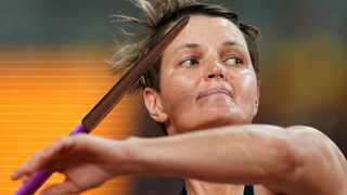 Sunette Viljoen, of South Africa, competes in the women's javelin throw at the World Athletics Championships in Doha, Qatar on Monday. Photo: AP Photo/David J. Phillip