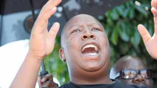 Suspended ANC Youth League leader Julius Malema addresses his supporters in Polokwane after the rulling party announced his sentence yesterday. Photo: Moloko Moloto
