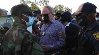 Suspended MKMVA spokesperson Carl Niehaus was arrested by heavily armed police officers stationed outside Estcourt prison while he was doing a live TV interview on Thursday. Picture: Doctor Ngcobo/African News Agency(ANA)
