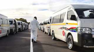 THE Red Dot service is a partnership between the Western Cape government and the minibus taxi industry to deliver critical transport during Covid-19. The service is called Red Dot because of the sticker on the vehicles, making it easily identifiable for passengers. Picture: Phando Jikelo African News Agency (ANA)