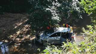 THE body of a 38-year-old man was recovered after his car landed in a river in Doonside, Warner Beach. Picture: SAPS