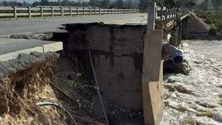 THE collapsed road connecting to the Zwelethemba bridge, over the Hex River, in the Breede Valley Municipality. Picture: Supplied.