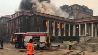 THE director of the UCT libraries has said that the Reading Room of the Jagger Library has been completely gutted by Sunday's fire. Picture: UCT Libraries/Facebook