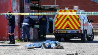 THREE men were shot dead at the Joe Slovo taxi rank in Milnerton on Wednesday. A fourth person was wounded. Police were deployed to the scene at around 9am on Wednesday morning. Detectives said that preliminary findings suggested that the killings were linked to ongoing conflict in the taxi industry. Picture: Leon Lestrade African News Agency (ANA)