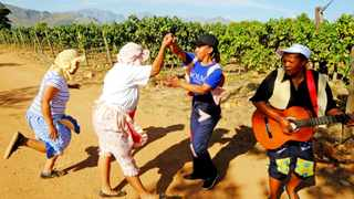 TRAILBLAZING: Solms-Delta workers at a previous celebration over the pending deal to become co-owners.