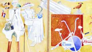 TREASURED ART: Stanley Pinkers His and hers and Decline and Fall, from the Hans Porer collection on loan to UCT.