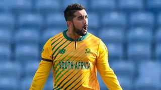 Tabraiz Shamsi played a starring role for the Proteas, claiming 2/13 and bowling 11 dot balls in the third T20I against the West Indies. Picture: West Indies Cricket