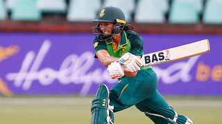 Tazmin Brits of South Africa during game one of the 2021 Womens T20 Series between South Africa and Pakistan at Kingsmead in Durban on 29 January 2021 © Steve Haag/ BackpagePix