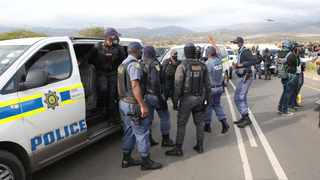 Tension ran high between Zuma supporters and police who blocked the road leading to the former president's home. Picture: Doctor Ngcobo/African News Agency (ANA)