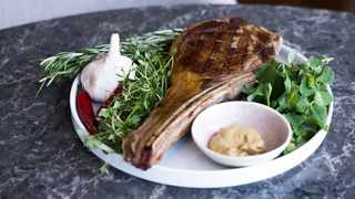 The 800g Tomahawk steaks. Picture: Supplied