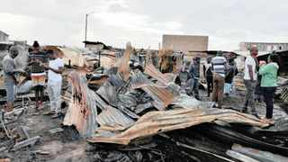 The Christmas Day shack fires in Siqalo informal settlement.     Tracey Adams African News Agency (ANA)