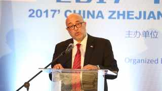 The DTI's Sadick Jaffer addresses the SA-China Zhejiang Trade and Investment Symposium in Sandton. PICTURE Provided