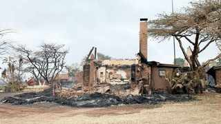 The Gwahumbe Lodge and Spa in Mid-Illovo burned down when a wildfire swept through Mid-Illovo on Sunday. Picture: Supplied
