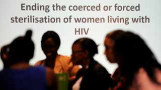 The Her Rights Initiative and Oxfam launch the campaign against the forced and coerced sterilisation of women living with HIV. Picture: Chris Collingridge 873