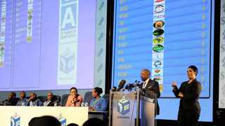 The IEC releases the results of the 2014 elections in Pretoria. Data published by the Electoral Commission of South Africa indicates that only 16% of 18-19-year olds are registered to vote on the voters roll.