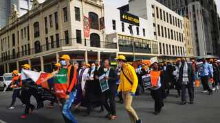 The Justice Department held a walk against racism, xenophobia and other forms of intolerance. Picture: Supplied