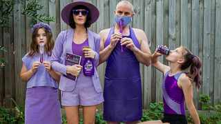 The Meadows slaying in purple. Picture: Facebook.
