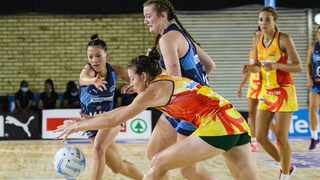 The North West Flames registered their second victory in a row after turning things around and beating the Western Cape Stings on Wednesday. Photo: @Netball_SA on twitter