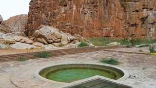 The Riemvasmaak hot springs were formed from volcanic eruptions that occurred centuries ago. Picture: supplied.