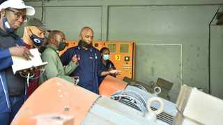 The SA Human Rights Commission conducts an inspection of the Bronkhorstspruit Water Treatment Plant. Picture: Thobile Mathonsi/African News Agency (ANA)