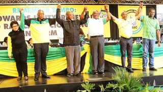 The Top 6 elected at the 54th national conference of the ANC in Nasrec in 2017. File picture: Motshwari Mofokeng/African News Agency/ANA