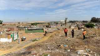 The Tudor Shaft community in Krugersdorp is living in terrible danger. Some of the residents have been relocated, while those remaining believe they've been forgotten. Picture: Boxer Ngwenya