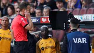 The Video Assistant Referee (VAR) system is not being used correctly in La Liga, Barcelona manager Quique Setien said on Monday following Real Madrid's controversial win at Real Sociedad. Photo: Albert Gea/Reuters