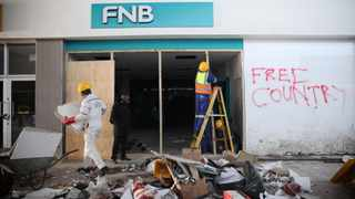 The aftermath of the Greater Edendale Mall in Pietermaritzburg following the looting and civil unrest. Picture: Motshwari Mofokeng/African News Agency (ANA).
