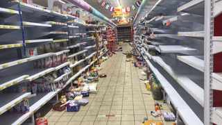 The aftermath of the looting at Boxer supermarket in Chris Hani Mall in Vosloorus. Picture: Itumeleng English/African News Agency (ANA)