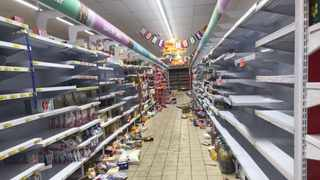 The aftermath of the looting which took place at Boxer supermarket. Picture: Itumeleng English/African News Agency (ANA)