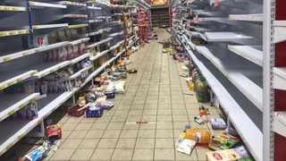 The aftermath of the looting which took place at Boxer supermarket in Chris Hani Mall in Vosloorus. Picture: Itumeleng English/African News Agency (ANA)