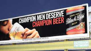 The alcohol industry in South Africa has committed to restricting its advertising times on TV and radio and not place billboard advertising within immediate proximity of schools. Photo: Ian Landsberg.
