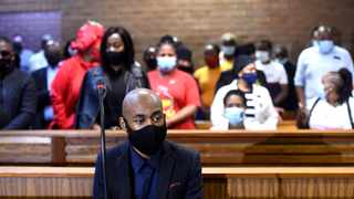 The alleged mastermind behind Tshegofatso Pule's murder, Ntuthuko Shoba appeared at the Roodepoort Magistrate's Court, for being behind the murder of eight months pregnant Tshegofatso Pule.Picture: Itumeleng English/African News Agency(ANA)