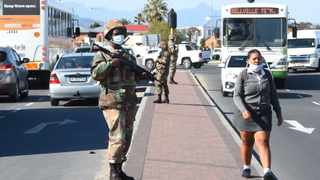 The army kept watch at the Bellville taxi rank as school reopened on Monday, to deter violence as no agreement has been reached between the Congress of Democratic Taxi Associations (Codeta) and Cape Taxi Amalgamated Association (Cata).  PHANDO JIKELO African News Agency (ANA)