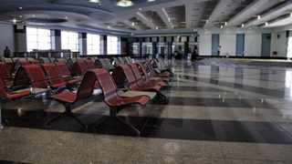 The arrival hall is empty at the Sharm el-Sheikh Airport in south Sinai, Egypt. Photo: Ahmed Abd El-Latif